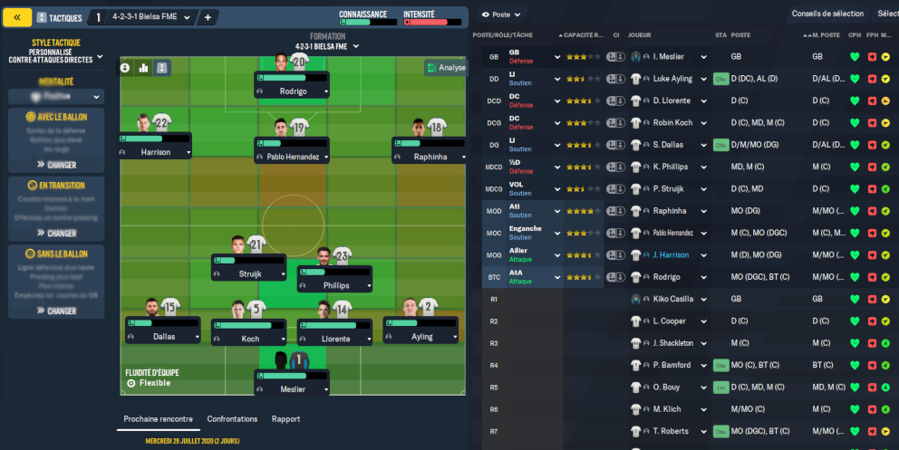 Tactique 4-2-3-1 Bielsa imbattable pour Football Manager 2021