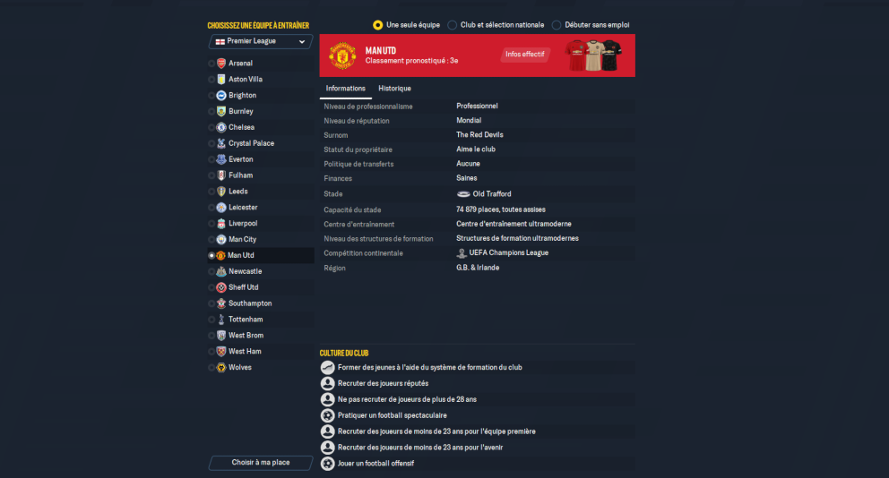 Logo Manchester United Football Manager 2022