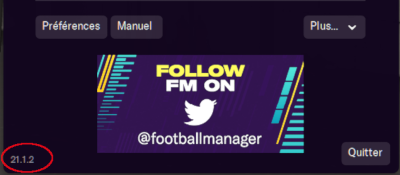 Mise à Jour Football Manager 2021